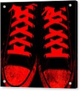 The Devil Wears Converse Acrylic Print by Ed Smith