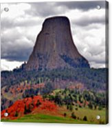 The Devils Tower Wy Acrylic Print by Susanne Van Hulst