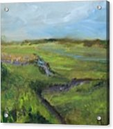 The Distant View Of The Marsh Acrylic Print