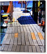 The Dock At Hill's Resort Acrylic Print