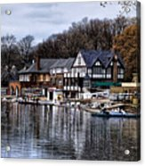 The Docks At Boathouse Row - Philadelphia Acrylic Print