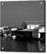 The Docks At Crisfield Md Acrylic Print
