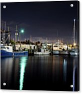 The Docks At Night Acrylic Print