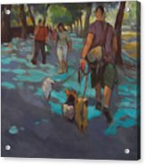 The Dog Walker Acrylic Print