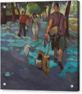 The Dog Walker Acrylic Print