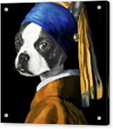 The Dog With A Pearl Earring Acrylic Print