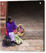 The Doll Peddler Acrylic Print