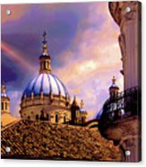 The Domes Of Immaculate Conception, Cuenca, Ecuador Acrylic Print