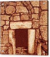The Door Of Humility At The Church Of The Nativity Bethlehem Acrylic Print