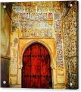 The Door To Alhambra Acrylic Print
