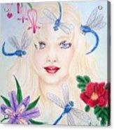 The Dragonfly Girl Acrylic Print