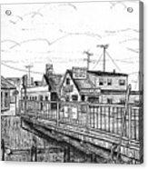 The Drawbridge As Seen From Pjs Acrylic Print