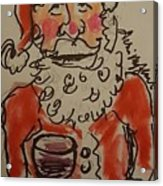 The Drunken Santa Acrylic Print