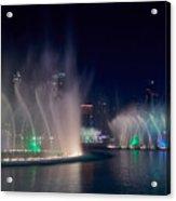 The Dubai Fountain At Burj Khalifa Acrylic Print
