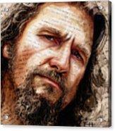 The Dude Acrylic Print by Fay Helfer