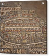 The Earliest Known Map Of The City Acrylic Print by Taylor S. Kennedy