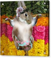 The Easter Bunny Didn't Die For Your Sins Acrylic Print