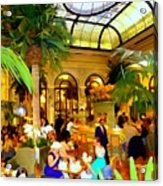 The Easter Holiday Tea At The Palm Court Acrylic Print