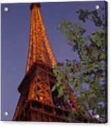 The Eiffel Tower Aglow Acrylic Print