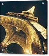 The Eiffel Tower By Night Acrylic Print