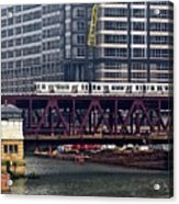 The El In Chicago Acrylic Print
