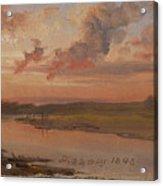 The Elbe In Evening Light Acrylic Print