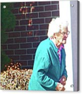 The Elderly Woman Acrylic Print