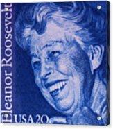 The Eleanor Roosevelt Stamp Acrylic Print