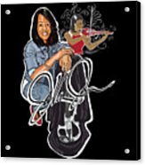 The Electric Violinist Acrylic Print