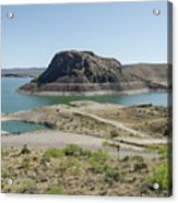 The Elephant At Elephant Butte Lake  Acrylic Print by Allen Sheffield