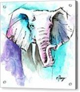 The Elephant King Acrylic Print