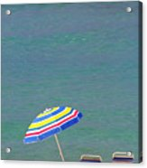 The Emerald Coast With Beach Chairs Acrylic Print