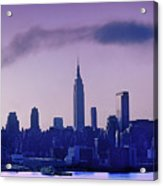 The Empire State Building In New York At 6 A. M. In January Acrylic Print