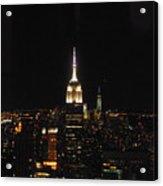 The Empire States At Night Acrylic Print