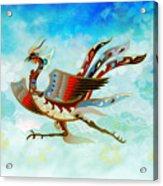 The Empress - Flight Of Phoenix - Blue Version Acrylic Print