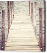 The Empty Dock Acrylic Print