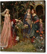The Enchanted Garden Acrylic Print by John William Waterhouse