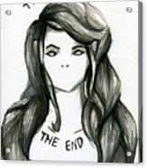 The End Acrylic Print