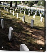 Arlington Tombstones Shade And Light Acrylic Print