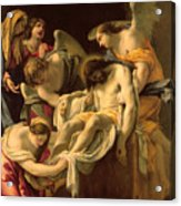 The Entombment Acrylic Print by Simon Vouet