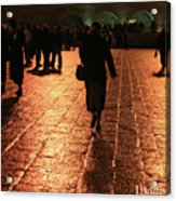 The Entrance To The Western Wall At Night Acrylic Print