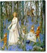The Fairy Wood Acrylic Print by Henry Meynell Rheam