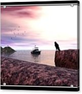 The Falcon At The Beach Acrylic Print