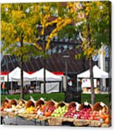 The Fall Harvest Is In Kendall Square Farmers Market Foliage Acrylic Print