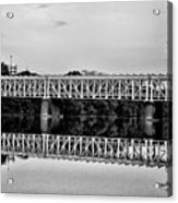 The Falls Bridge From Kelly Drive Acrylic Print