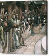 The False Witness Acrylic Print by Tissot