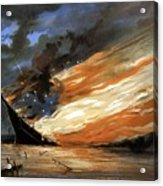 The Fate Of The Rebel Flag Acrylic Print by War Is Hell Store