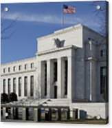 The Federal Reserve In Washington Dc Acrylic Print by Brendan Reals