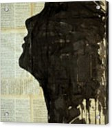 The Female Silhouette . Acrylic Print
