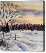 The Fields After Snow Acrylic Print